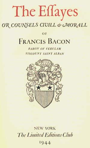 Essays: Francis Bacon: 97816 2 6 76 : Amazon com: Books