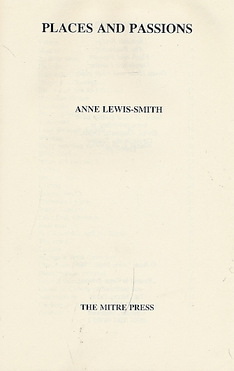 LEWIS-SMITH, ANNE - Places and Passions