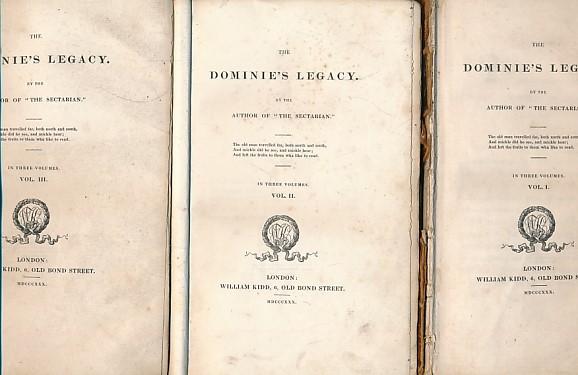 [PICKEN, ANDREW] - The Dominie's Legacy. 3 Volume Set