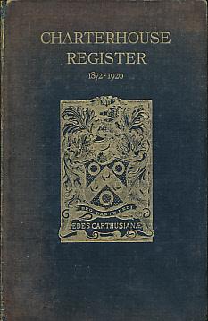 [CHARTERHOUSE] - Charterhouse Register. 1911 - 1920. Vol III
