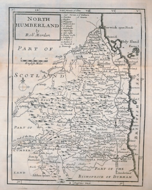 COX, THOMAS - Magna Britannia Et Hibernia Antiqua & Nova [or, a New, Exact, & Comprehensive Survey of the Ancient & Present State of Great Britain. Collected & Compiled from the Antiquities & Histories of Each County]; Cox's 'Magna Britannia'. Northumberland
