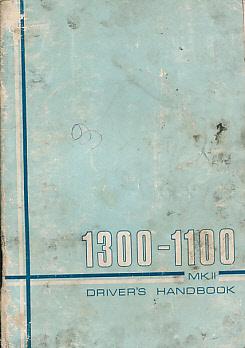BRITISH LEYLAND - 1300-100 Mk II. Handbook. [Akd 7098 a]
