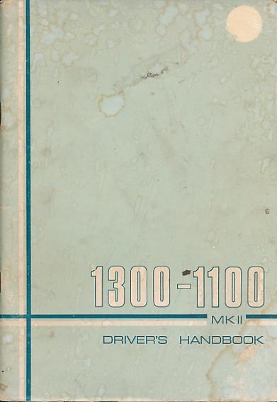 BRITISH LEYLAND - 1300-100 Mk II. Handbook. [Akd 7098 B]