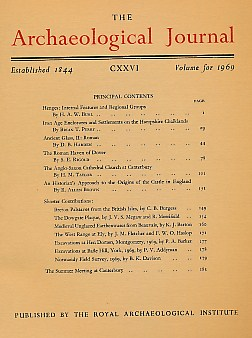 EDITOR - The Archaeological Journal. Volume 126 for the Year 1969