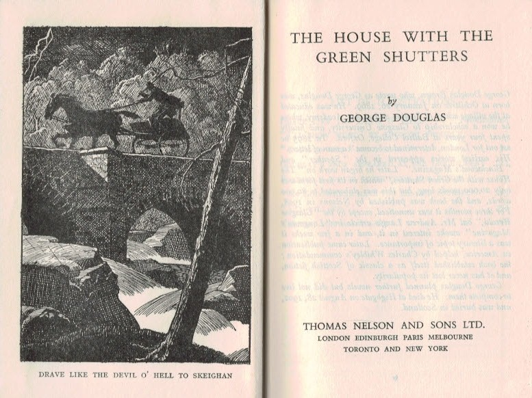DOUGLAS, GEORGE - The House with the Green Shutters