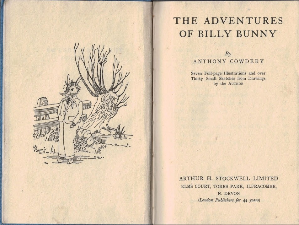COWDERY, ANTHONY - The Adventures of Billy Bunny