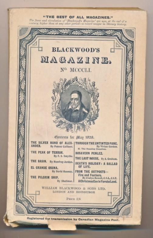 [WILLIAM BLACKWOOD] - Blackwood's Magazine. Volume 223. No MCCCLI 1351. May 1928