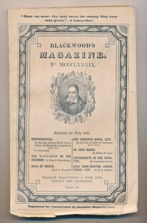 [WILLIAM BLACKWOOD] - Blackwood's Magazine. Volume 230. No MCCCLXXXIX 1389. July 1931