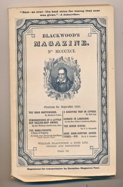 [WILLIAM BLACKWOOD] - Blackwood's Magazine. Volume 230. No MCCCXCI 1391. September 1931