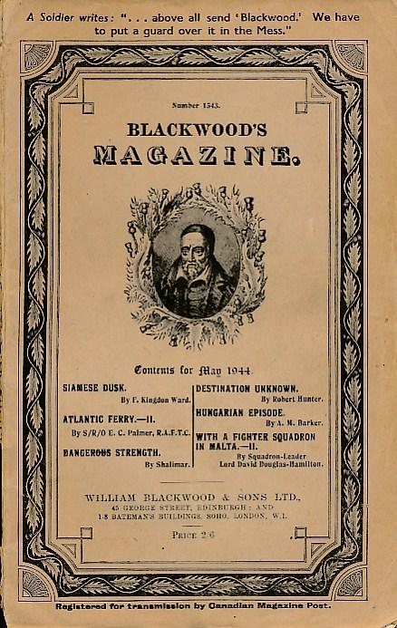 [WILLIAM BLACKWOOD] - Blackwood's Magazine. No 1543. May 1944
