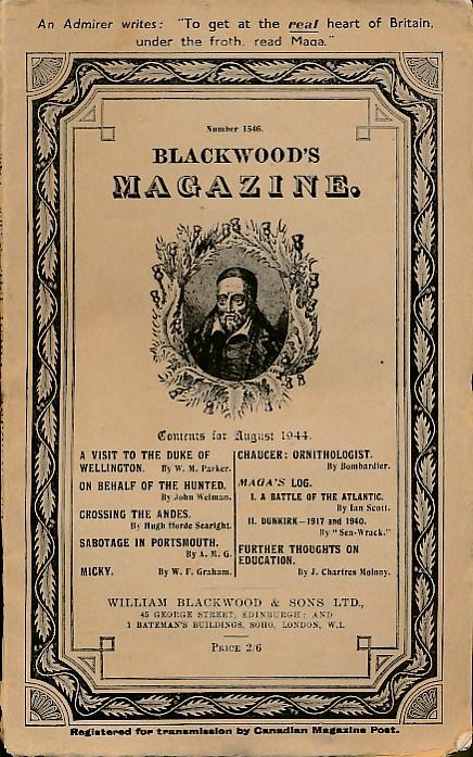 [WILLIAM BLACKWOOD] - Blackwood's Magazine. No 1546. August 1944