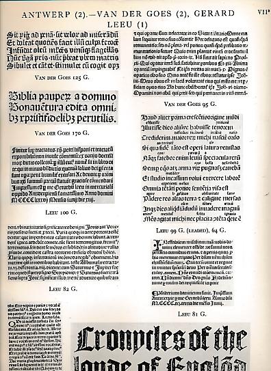 [THE TRUSTEES OF THE BRITISH MUSEUM] - Catalogue of Books Printed in the Xvth Century Now in the British Museum. Part IX. Fascicule II - Belgium