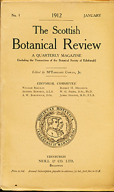 COWAN, MCTAGGART [ED.] - The Scottish Botanical Review. A Quarterly Magazine. Vol 1, No 1