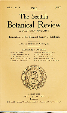 COWAN, MCTAGGART [ED.] - The Scottish Botanical Review. A Quarterly Magazine. Vol 1, No 3. July