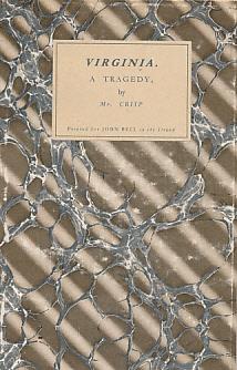 CRISP, SAMUEL - Virginia. A Tragedy