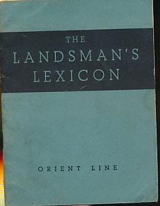 ORIENT LINE - The Landsman's Lexicon