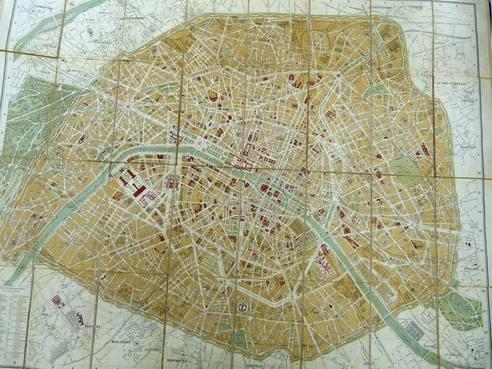 HACHETTE - Plan de Paris. 1892