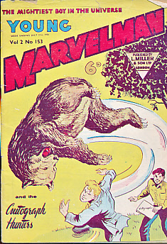 EDITOR - Young Marvelman Vol 2 No 153. Week Ending July 21st, 1956. Young Marvelman and the Autograph Hunters
