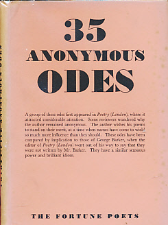 [MOORE, NICHOLAS] - Thirty-Five Anonymous Odes