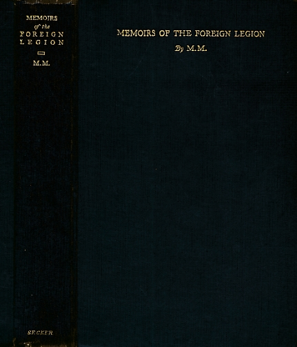 M. M. [D H LAWRENCE] - Memoirs of the Foreign Legion