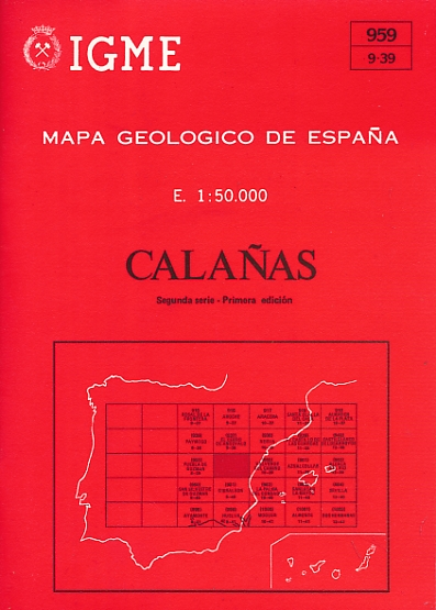 EDITOR - Mapa Geologico de Espana. E. 1: 50. 000. Calanas