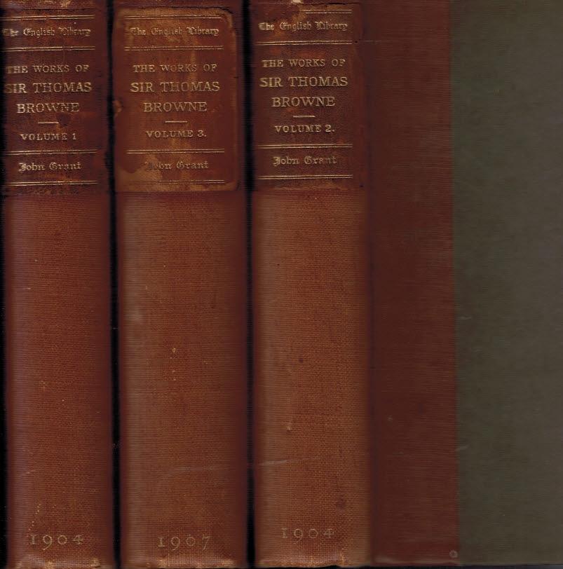 The Works of Sir Thomas Browne 3 volume set