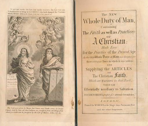 [ALLESTREE, RICHARD] - The New Whole Duty of Man, Containing the Faith As Well As Practice of a Christian: Made Easy for the Practice of the Present Age,... 1831