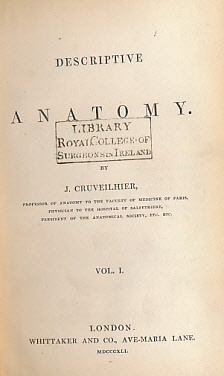 CRUVEILHIER, J - Descriptive Anatomy. 2 Volume Set