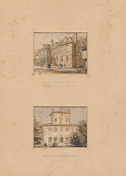 [FORSTER, J.] ([LANDOR, WALTER SAVAGE]) - Two Original Watercolours of Walter Savage Landor's Birthplace at Warwick and Villa at Fiesole