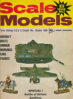 EDITOR - Scale Models. Map Hobby Magazine. Volumes 1 to 8 in 7 Binders. October 1969 to February 1977. 89 Consecutive Issues
