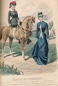 EDITOR - Journal Des Demoiselles Et Petit Courrier Des Dames Reunis. Modes de Paris Premier Semestre. Deuxieme Semestere. 1880