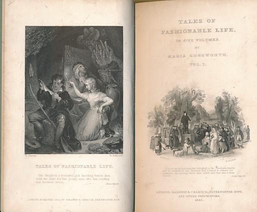 EDGEWORTH, MARIA - Tales of a Fashionable Life. Volume I