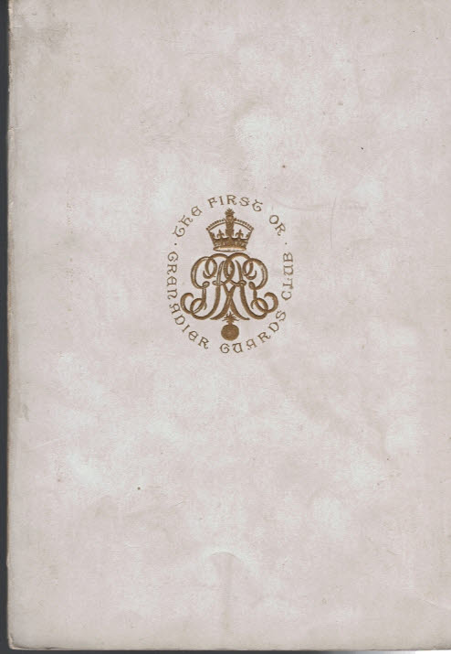 EDITOR - The First or Grenadier Guards' Club. 1923