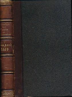 EDITOR - Ponts Et Chaussees. Memoires Et Documents Relatifs a L'Art Des Construcions Et Au Service de L'Ingeniear. No 209. Mars- Avril 1869