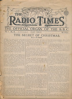 EDITOR - The Radio Times. The Official Organ of the B.B. C. Vol. I. No. 13. December 21, 1923
