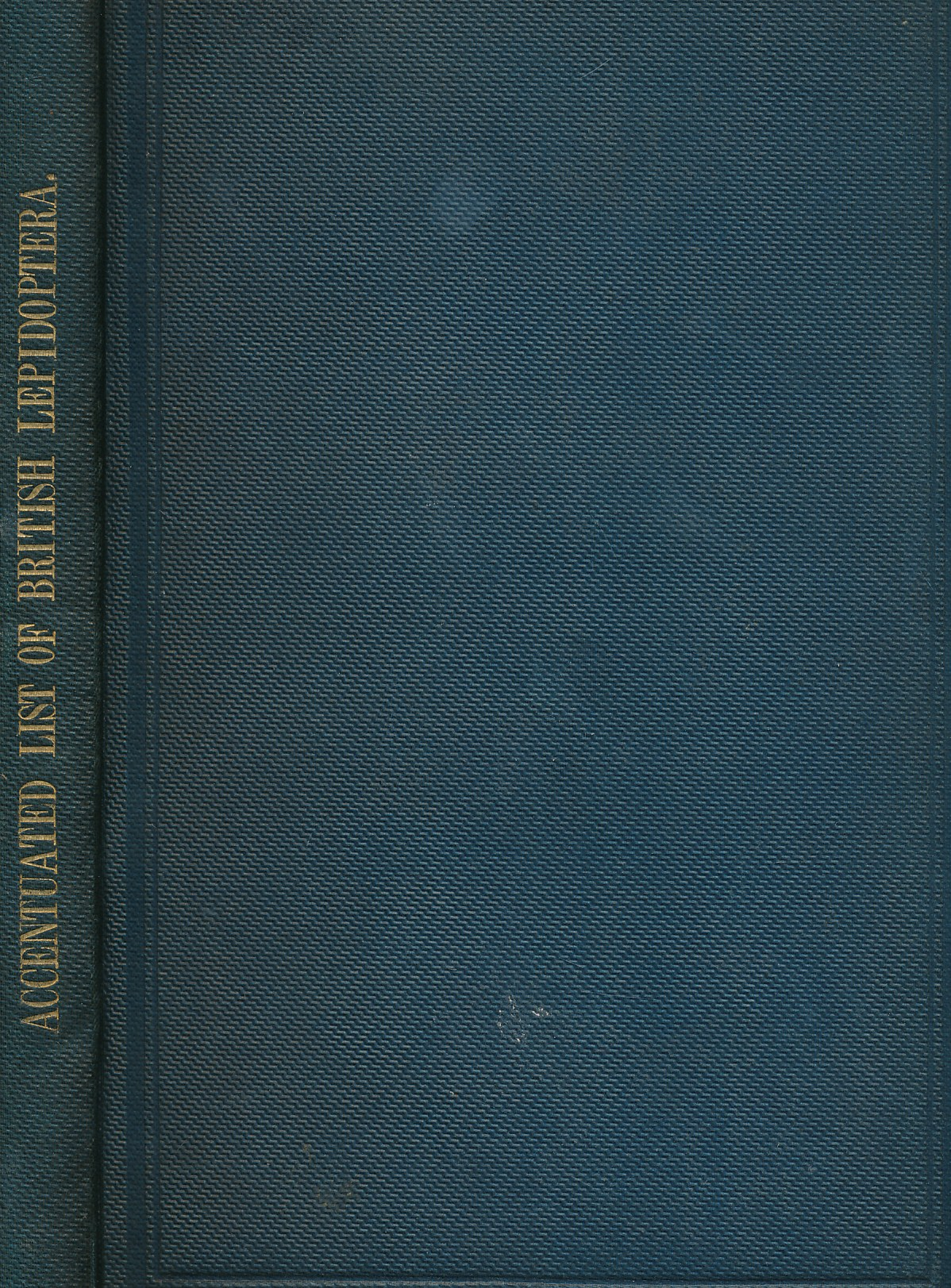 EDITOR - An Accentuated List of the British Lepidoptera, with Hints on the Derivation of the Names