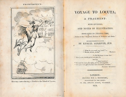 [GRAHAM, ELIZABETH SUSANNA] - Voyage to Locuta; a Fragment: With Etchings and Notes of Illustration. Dedicated to Theresa Tidy by Lemuel Gulliver, Jun. Hatchard Edition