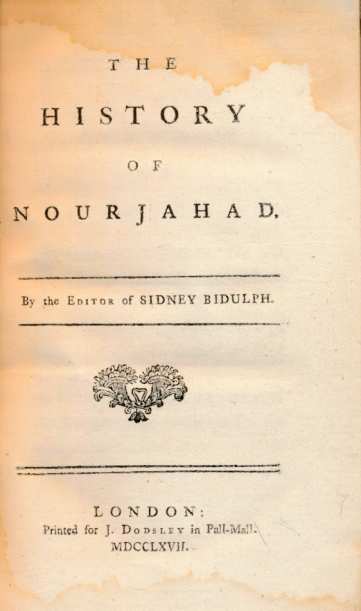 [SHERIDAN, FRANCES] - The History of Nourjahad