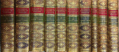 CRAIK, GEORGE L; MACFARLANE, CHARLES; MARTINEAU, HARRIET ET AL - The Pictorial History of England Being the History of the People, As Well As a History of the Kingdom. Bc55 - 1820. Eight Volume Set [Together with] Martineau's History of England in Three Volumes