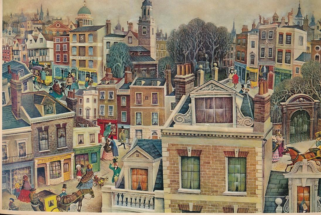 [CRUIKSHANK, R J; WEGNER, FRITZ] (DICKENS, CHARLES) - A Christmas Carol Advent Calendar. Adapted from Charles Dickens' Story