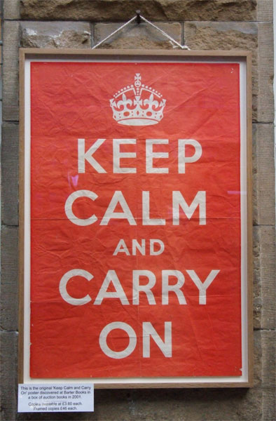 barter books hmso keep calm and carry on poster