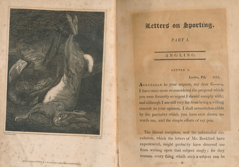 [LASCELLES, ROBERT] - Letters on Sporting. Part 1 [Angling] & 2 [Shooting]: [Angling: Being the First Part of a Series of Familiar Letters on Sporting; Shooting: Being the Second Part of a Series of Familiar Letters on Sporting]