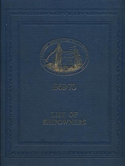 LLOYD'S - Lloyd's Register of Shipping. List of Shipowners 1969-70