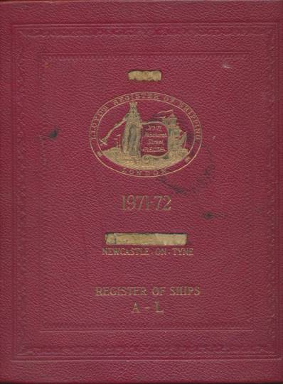 LLOYD'S - Lloyd's Register of Shipping. List of Shipowners 1971-72