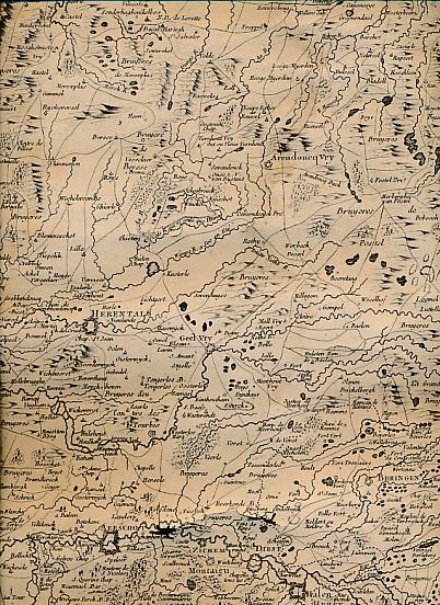 [NOLIN, JEAN-BAPTISTE, FILS] - Carte Des Pais-Bas. Herentals - Tirlemont - Sedan. Lyndhoven -Maestricht - Arlon
