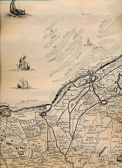 [NOLIN, JEAN-BAPTISTE, FILS] - Carte Des Pais-Bas. Calais/Dunkerque - Montreuil - Amiens