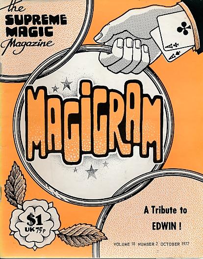 DE COURCY, KEN [ED.] - The Magigram. Volume 10 No. 2. October 1977