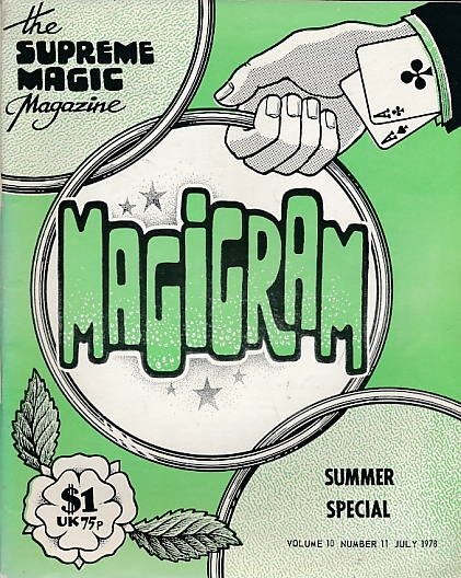 DE COURCY, KEN [ED.] - The Magigram. Volume 10 No. 11. July 1978