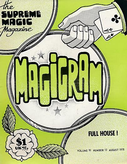 DE COURCY, KEN [ED.] - The Magigram. Volume 10 No. 12. August 1978