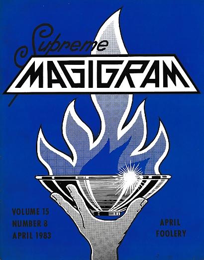 DE COURCY, KEN [ED.] - The Magigram. Volume 15 No. 8. April 1983